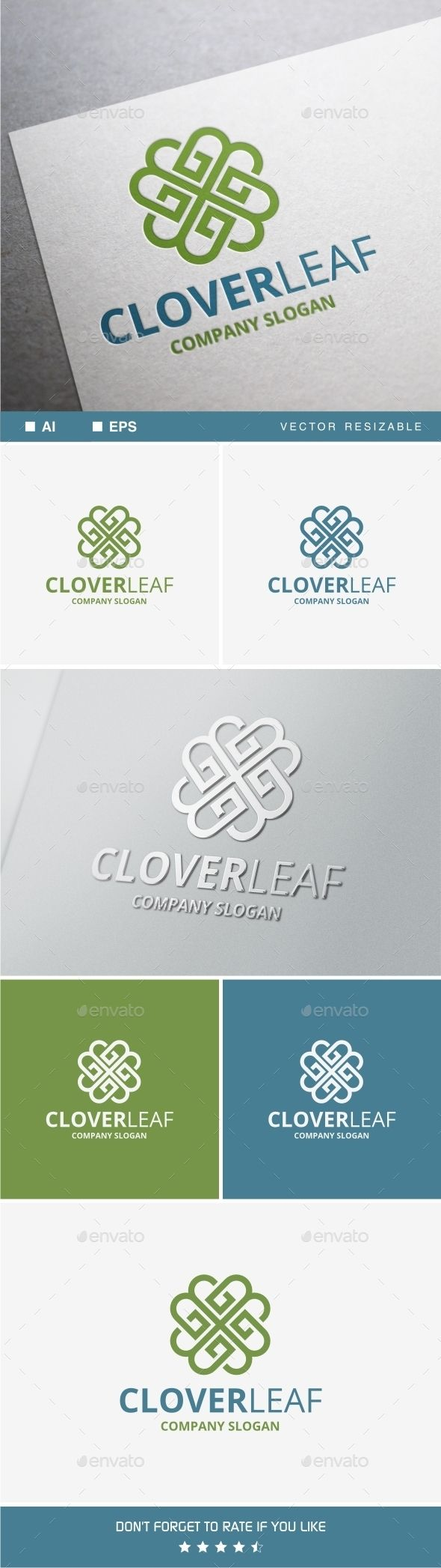 Clover Leaf — Vector EPS #heart #medicare • Available here → https://graphicriver.net/item/clover-leaf/10599342?ref=pxcr