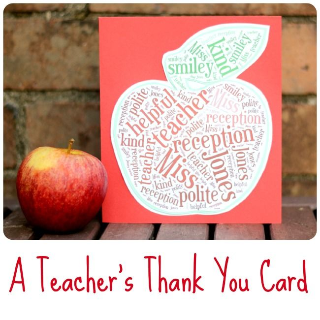 How To Make a Teacher's Thank You Card (using Tagxedo) * Easily customise a shape within the website based app Tagxedo to create a personalised thank you card for a teacher.