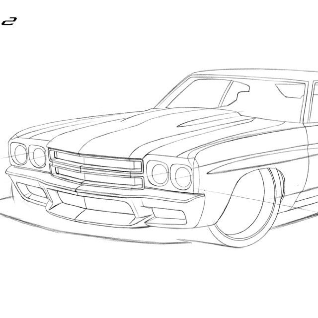 17 best muscle car drawings images on pinterest