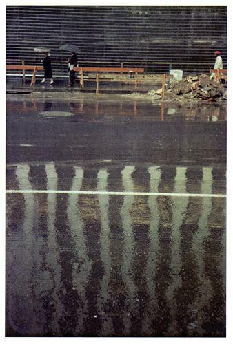 SAUL LEITER - Street scene 1957 photographe célèbre
