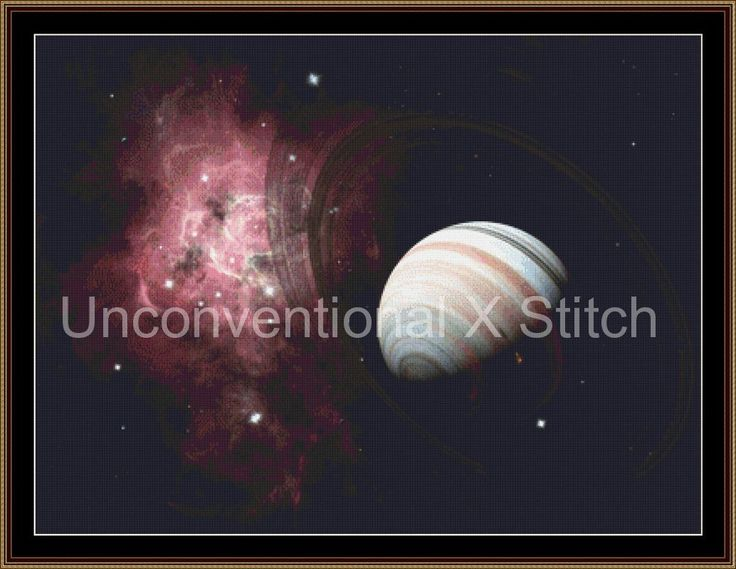 planet space fantasy astronomy cross stitch pattern by UnconventionalX on Etsy