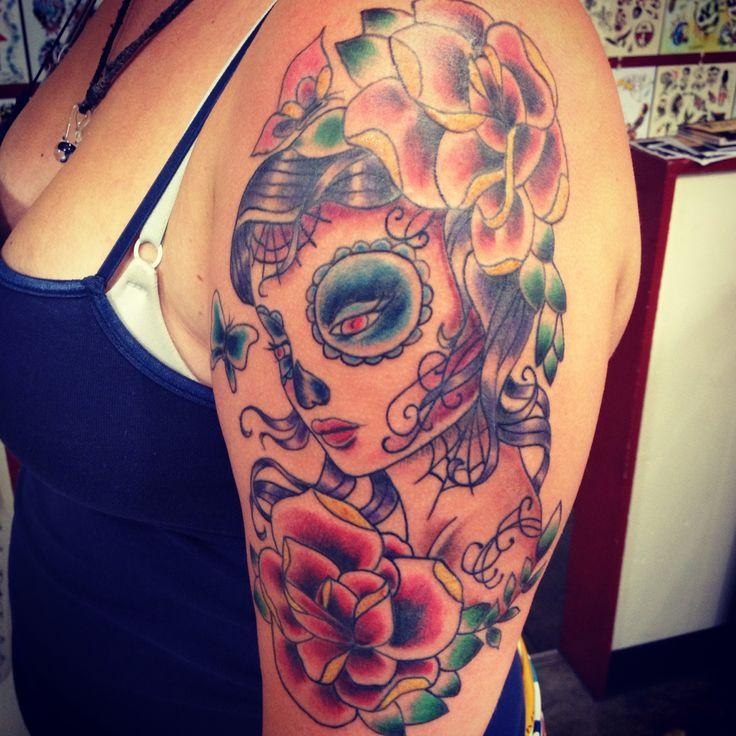Gypsy skull tattoo. | Ink Art | Pinterest  Gypsy skull tat...