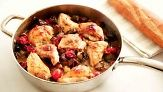 Roasted chicken breasts with an easy Ratatouille from Martha Stewart