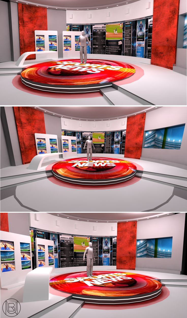Sports news - virtual studio design