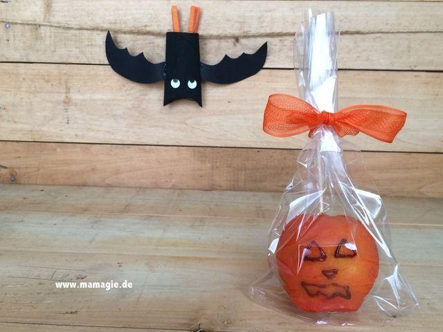 Halloween Rezept Liebesapfel Kürbis / Halloween candy apples