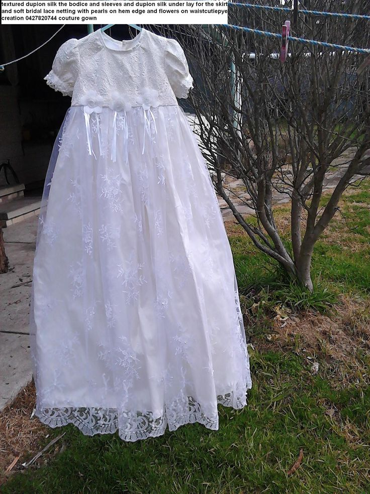 cutiepye couture silk dupion and bridal lace gown $289 ring 0427820744