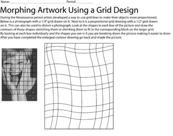 Printables Grid Art Worksheets 1000 images about enlarging grid technique on pinterest art morphing a photo worksheet