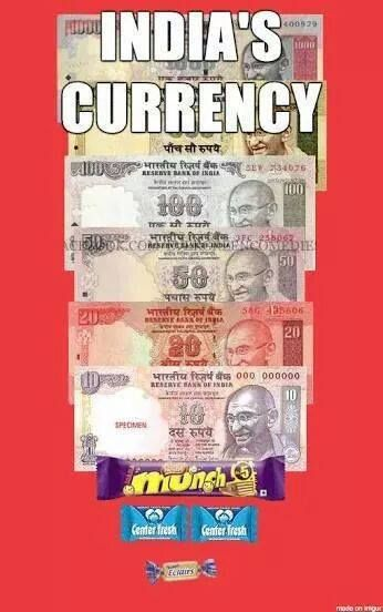 INDIA's CURRENCY!!! XD