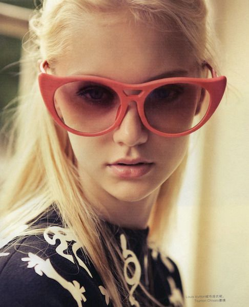 bold coral cat eyes; perfect for spring