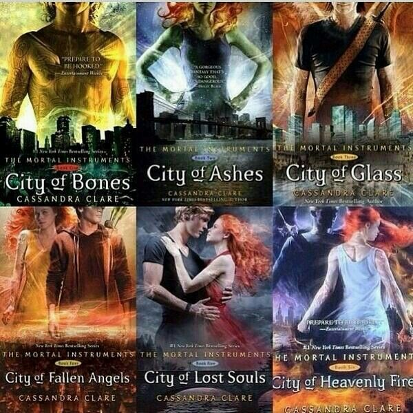 The Mortal Instruments Book Covers All the TMI book cover...
