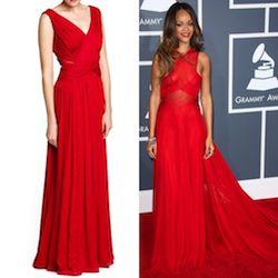 SPOTTED: Rode maxi jurk à la Rihanna