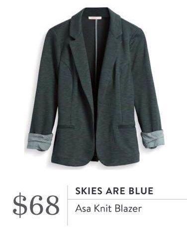 Skies Are Blue Asa Knit Blazer
