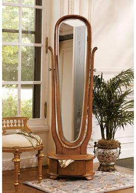 """Lady Caroline"" full length Art Nouveau floor mirror from Design Toscano."