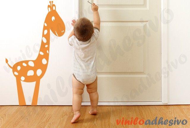 Vinilo jirafa graciosa - Vinilos decorativos infantiles