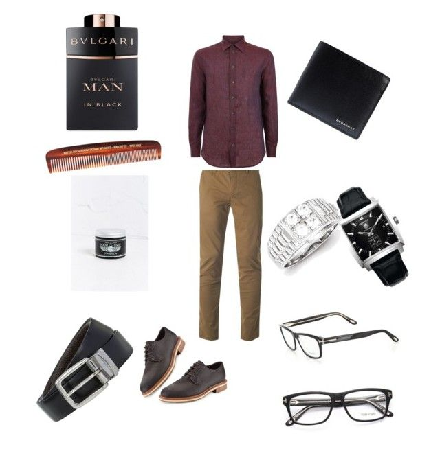 """Untitled #11"" by mayapriskilla on Polyvore featuring Doc Elliott, Bulgari, Baxter of California, Burberry, Tag Heuer, Ted Baker, Armani Collezioni, Ermenegildo Zegna, BOSS Hugo Boss and Tom Ford"
