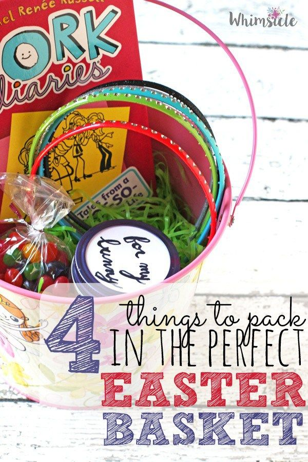 78 best easter images on pinterest easter baskets easter basket 4 things to pack in the perfect easter basket negle Image collections