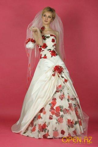 красные свадебные платья фото