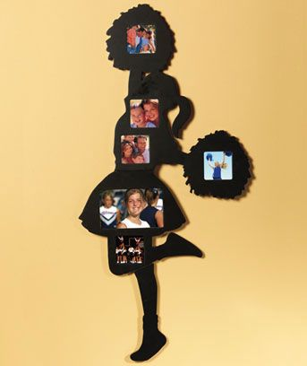 Cheerleader photo frame  http://www.lakeside.com/For-the-Home/Decorative-Accents/Wall%2BArt/Silhouette-Photo-Collages/prod321144.jmp?navAction=push&fm=leftnav&categoryId=cat52119&navCount=0