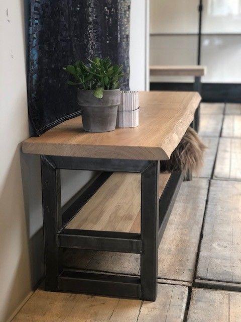 Wonderlijk TV-meubel Hout en Staal Boomstam eiken in 2019 | Woonkamer AR-91