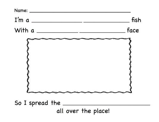 pout pout fish reading extension activities