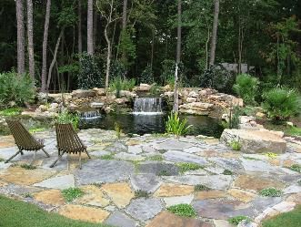 Marietta ga residence koi pond and patio pictures and for Koi import el patio