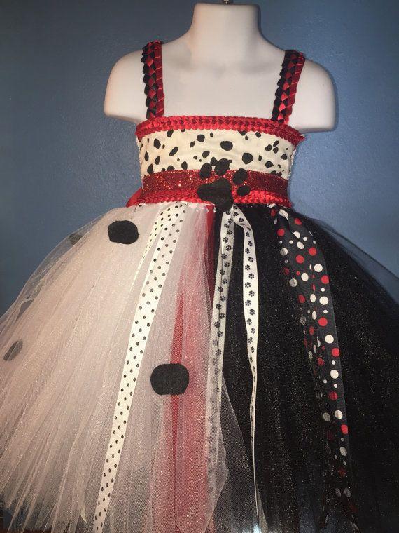 Cruella Deville tutu dress Disney Damations by TutuSweetbyAmyLynn