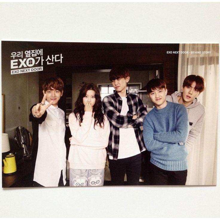 K-POP EXO x Line Naver Web Drama EXO Next Door Official Post Card Limited ver 3
