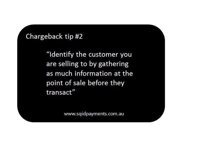Chargeback tip #2