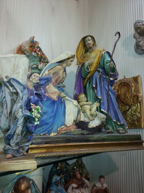 "Paper Mache Nativity sets - 12"" and 16"" sizes available. See our website for details."