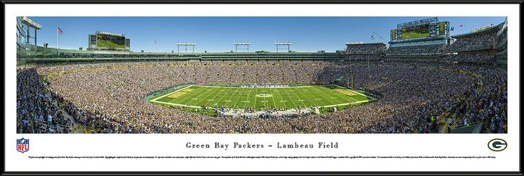 Green Bay Packers Panoramic - Lambeau Field Picture Framed