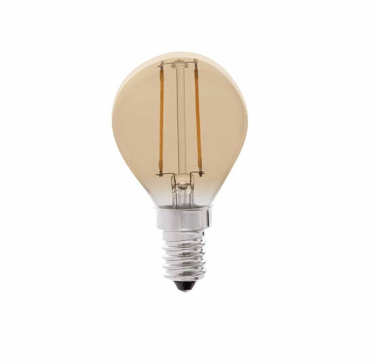 Bombilla LED rosca E14 ámbar 2W