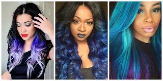 ¡Wow! Blue Hair Style #hairstyle #women #fashion #moda #mujeres