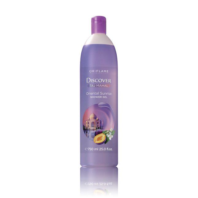 Αφροντούς Discover Taj Mahal Oriental Sunrise #oriflame Δραπετεύστε στο εξωτικό Taj Mahal ενώ καθαρίζετε την επιδερμίδα σας με αυτό το αναζωογονητικό αφροντούς με το ζεστό ντελικάτο oriental άρωμα με νότες από πορτοκάλια και δαμάσκινα. Με ισορροπημένο pH είναι κατάλληλο για όλη την οικογένεια. 750 ml Κωδικός:24881