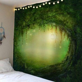 Pathway tree hole waterproof wall art tapestry