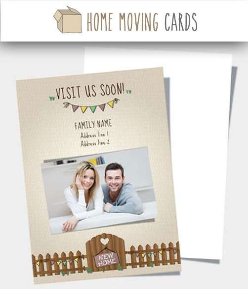 7 best change of address cards templates images on pinterest for Moving home cards template