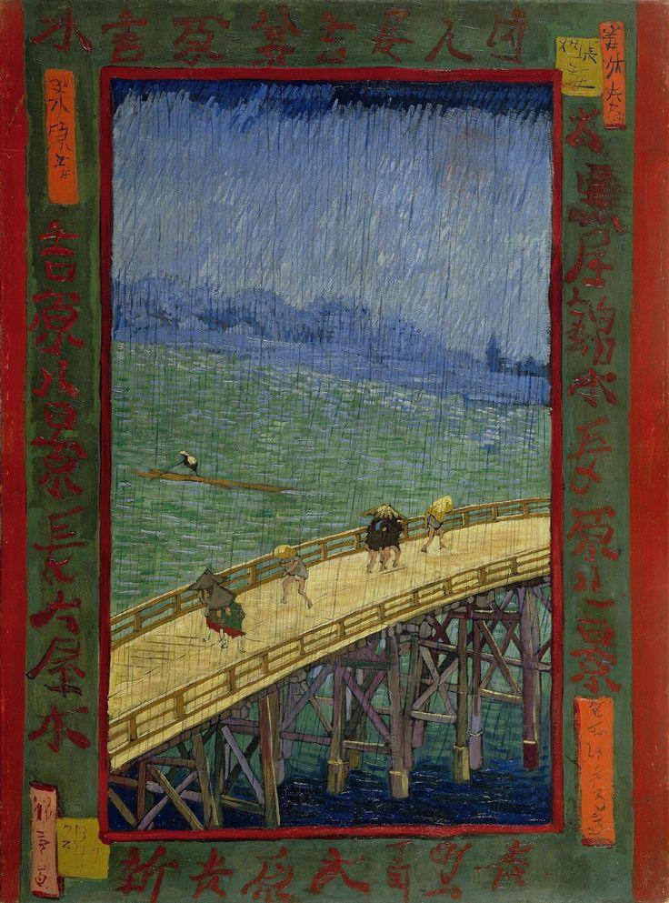 Vincent Van Gogh | Bridge in the rain (after Hiroshige), 1887