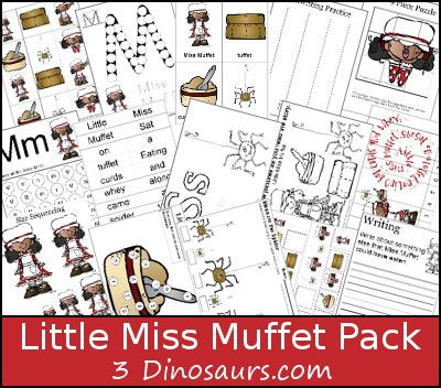 FREE Little Miss Muffet Pre K Pack