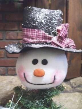 Snowman Tree Topper. $18.99, via Etsy.
