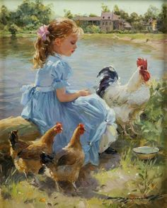 little girl paintings - Google Search