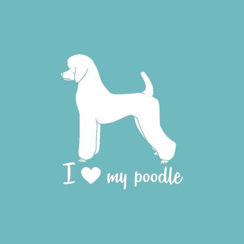 "Standard Poodle "" I Love My Poodle "" Window Car Laptop Vinyl Sticker Decal"