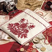 'Pontos Vermelhos' - traditional Portuguese embroidery kit, Inspirations issue 79