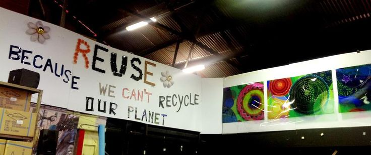 Reuse! Because we can't recycle our planet.