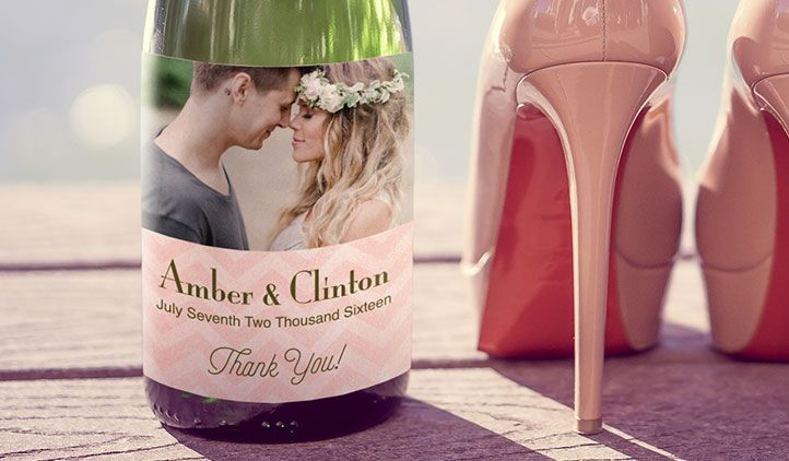 Make custom wine labels for weddings, table settings, bachelorette parties, or to pop your question to your bridesmaids.