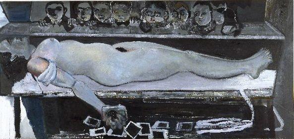 by Marlene Dumas ( Snowwhite and the broken arm (1988)