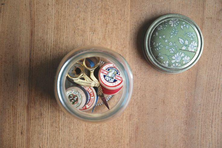 littlenestbox blog | kilner jar sewing kit tutorial