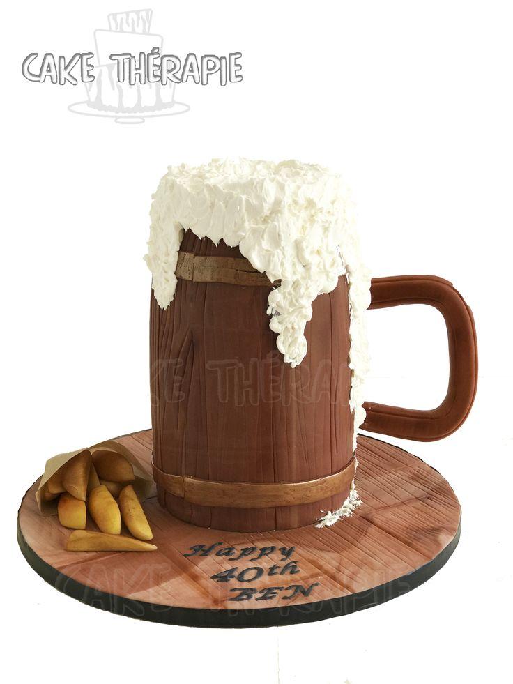 Beer pitcher/mug cake.