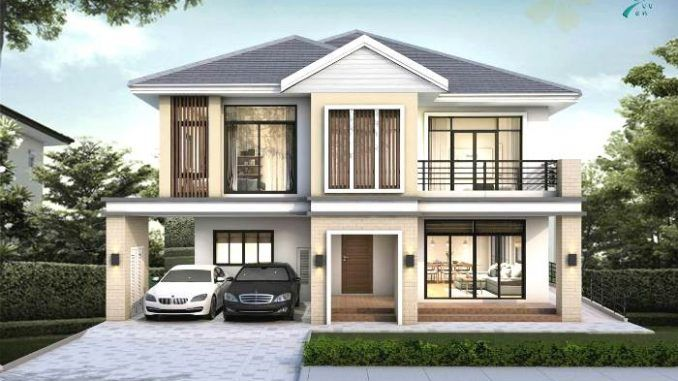 Stunning Two Storey House With Four Bedrooms Ulric Home In 2020 Modern Bungalow House Bungalow House Plans Modern Style House Plans