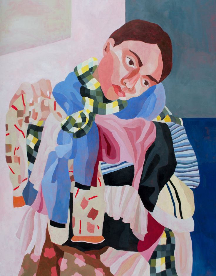 Paris-based artist Ines Longevial's vibrantly colored paintings are visually captivating. Ines Longevial's paintings are truly a visual delight.