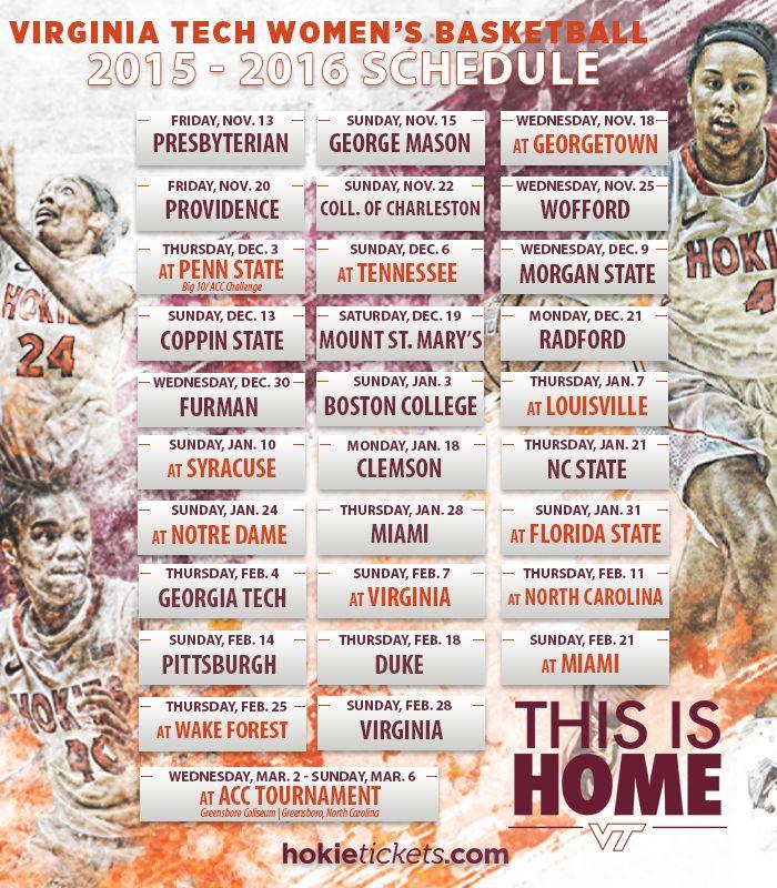 Virginia Tech announces 2015-16 women's basketball schedule