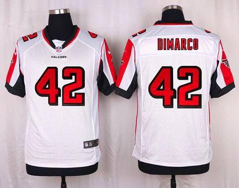 Atlanta Falcons #42 Patrick DiMarco White Road NFL Nike Elite Men's Jersey